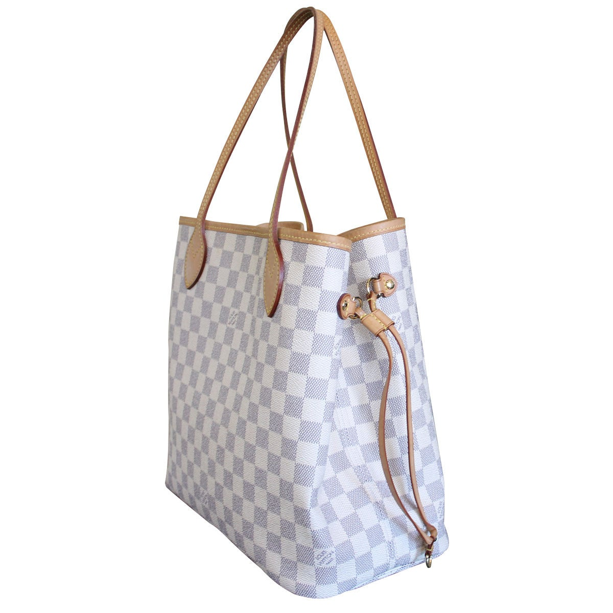 Louis Vuitton Neverfull MM Damier Azur Canvas Handbag Tote 3