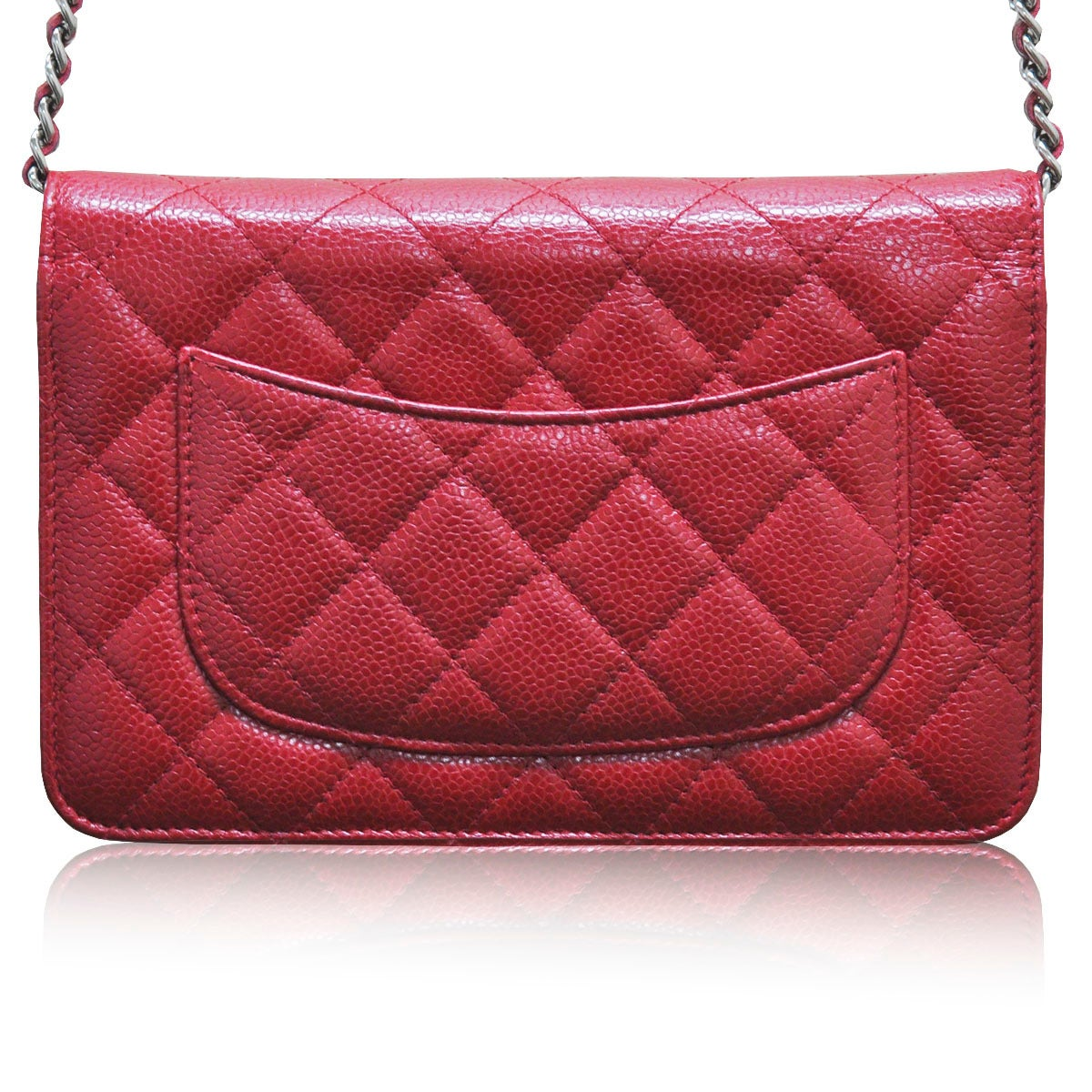 bc162475659c Company - Chanel Model - WOC Material - Red Caviar Lining - Red  Measurements - 7.5. Chanel Red Caviar Leather WOC Wallet on Chain Silver  Hardware ...