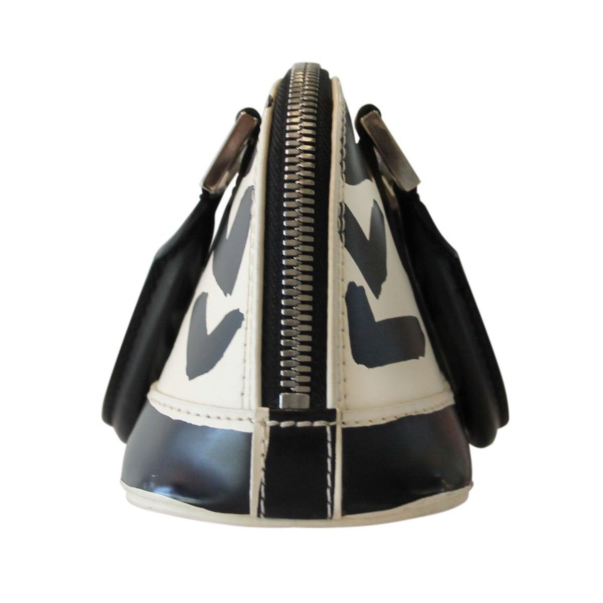 07313089424 Women s Louis Vuitton Graffiti Alma PM Ivory   Black Handbag For Sale