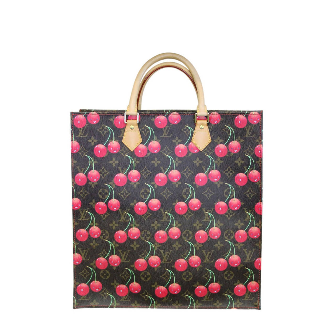 Louis Vuitton Cherry Sac Plat Cerises Canvas Tote Bag