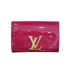 Louis Vuitton Louise Indian Rose Patent Leather Clutch