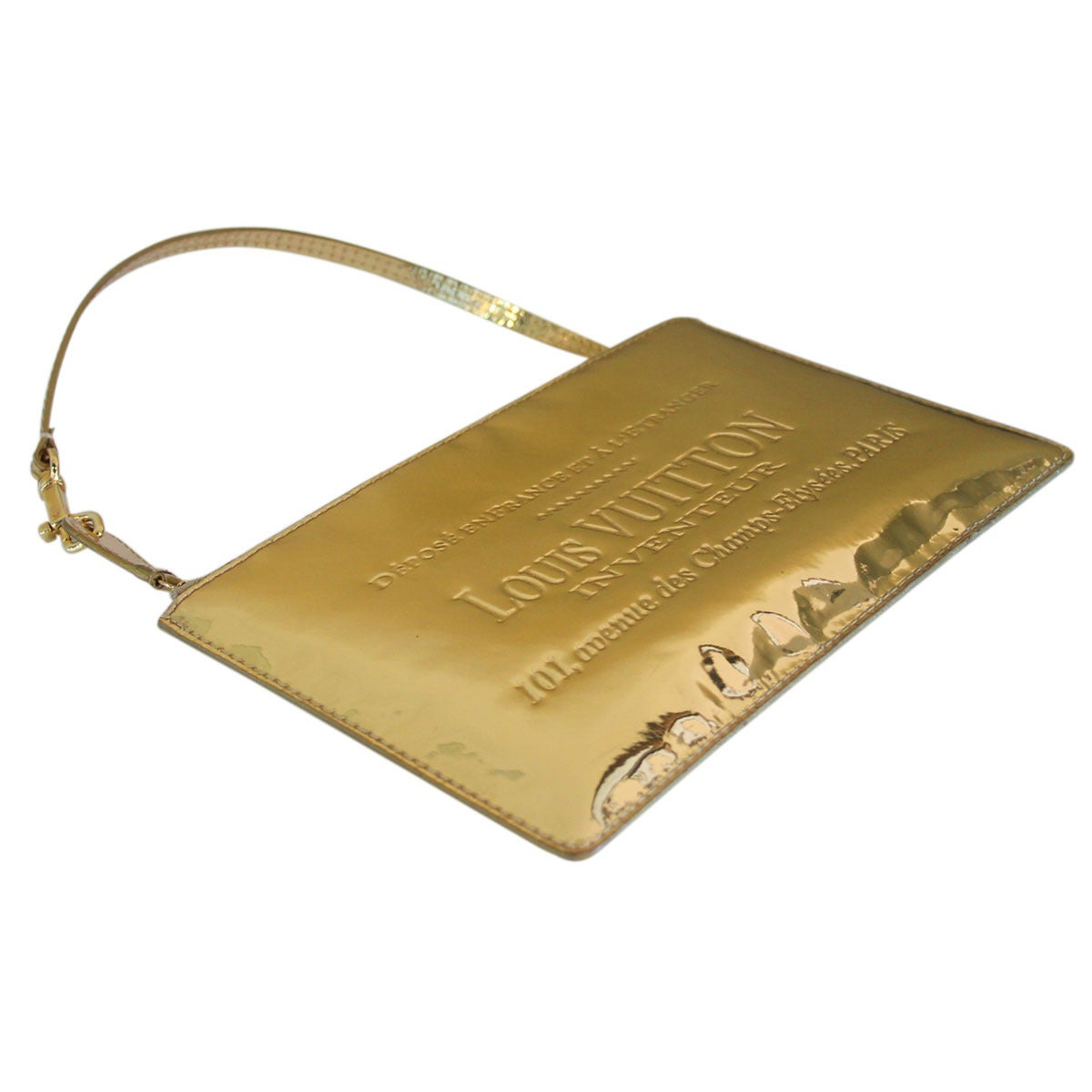 Louis vuitton limited edition gold miroir pochette clutch for Miroir louis vuitton