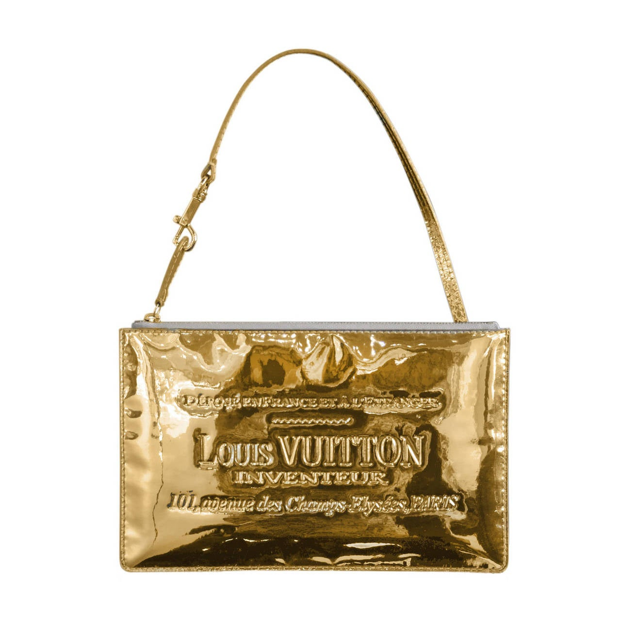 Louis vuitton limited edition gold miroir pochette clutch for Louis vuitton miroir bags