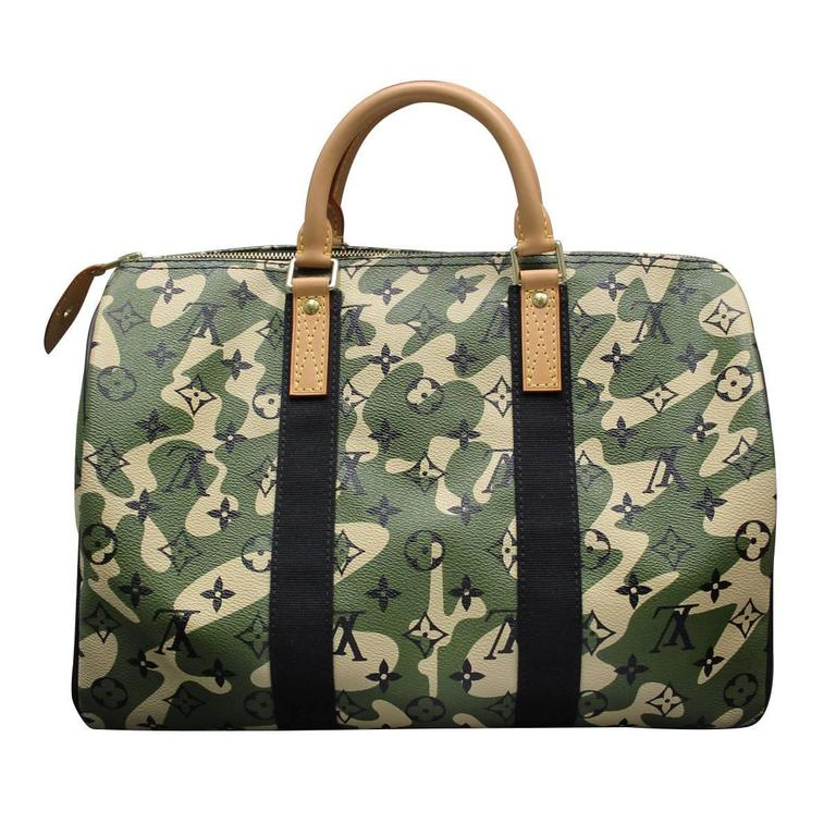 4975952e391a Brand  Louis Vuitton Style  Very Rare Handbag Handles  Cowhide Leather  Rolled Handles . Louis Vuitton Speedy 35 Camouflage Monogramouflage ...
