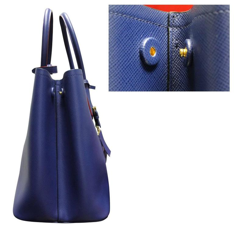 67ac0a6f7d24 ... closeout purple prada saffiano cuir double bag blue and red large tote  bag for sale ba6c3
