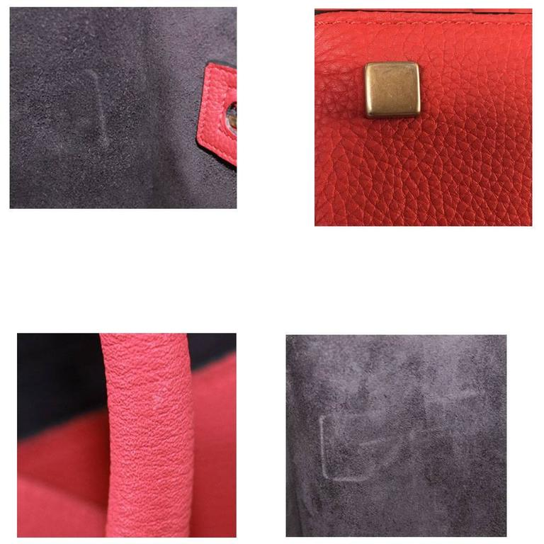 Celine Phantom Red Leather Limited Edition Luggage Tote Bag For Sale 5