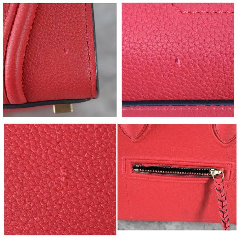 Celine Phantom Red Leather Limited Edition Luggage Tote Bag 5