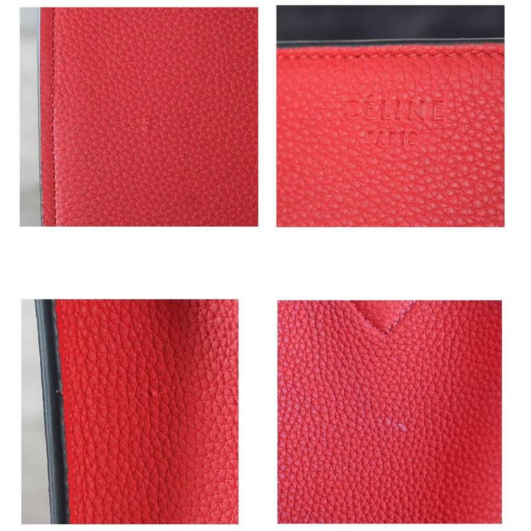 Celine Phantom Red Leather Limited Edition Luggage Tote Bag For Sale 3