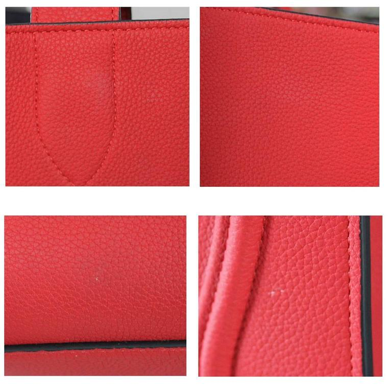 Celine Phantom Red Leather Limited Edition Luggage Tote Bag For Sale 2