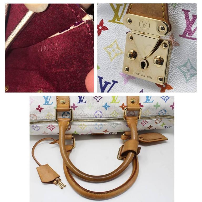 c176d9ac7ad Louis Vuitton Murakami Keepall 45 White Handbag Purse Travel Bag For Sale 5