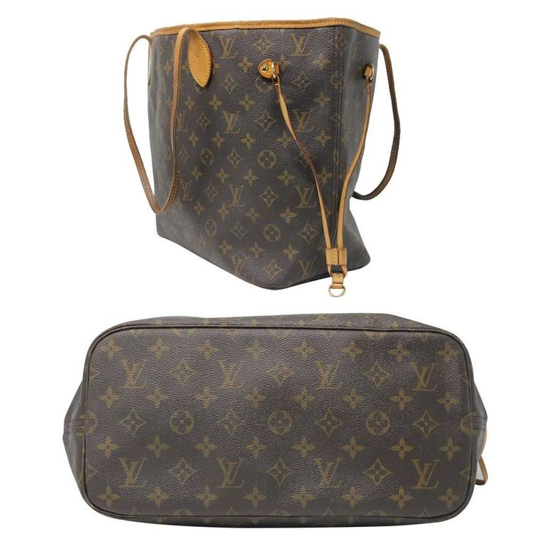 Sac Louis Vuitton Neverfull Mm : Louis vuitton neverfull mm monogram tote bag at stdibs