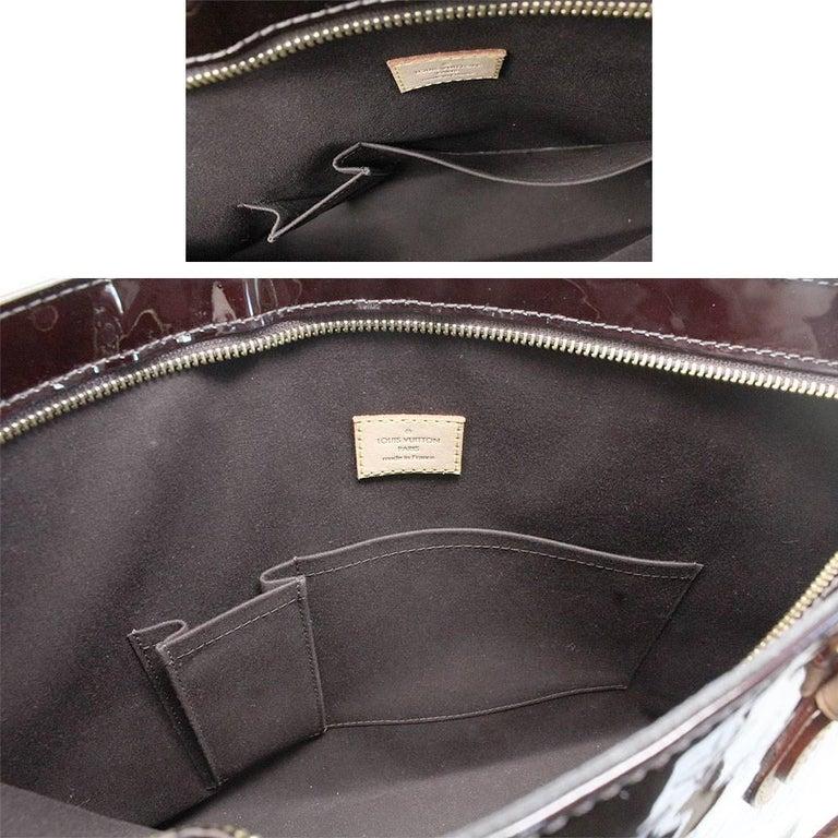 Louis Vuitton Brentwood Amarante Vernis Tote Bag For Sale 2