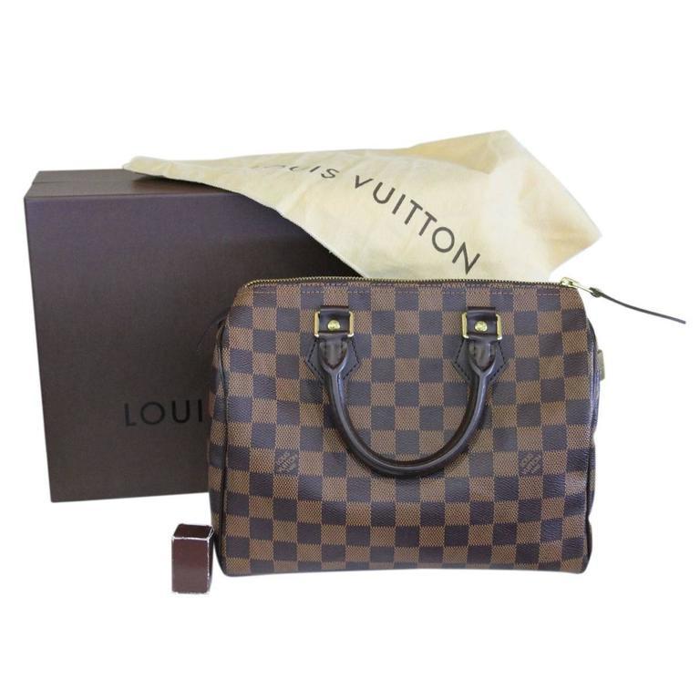 a1c4ed56b332 Louis Vuitton Speedy 25 Damier Ebene Handbag in Box at 1stdibs