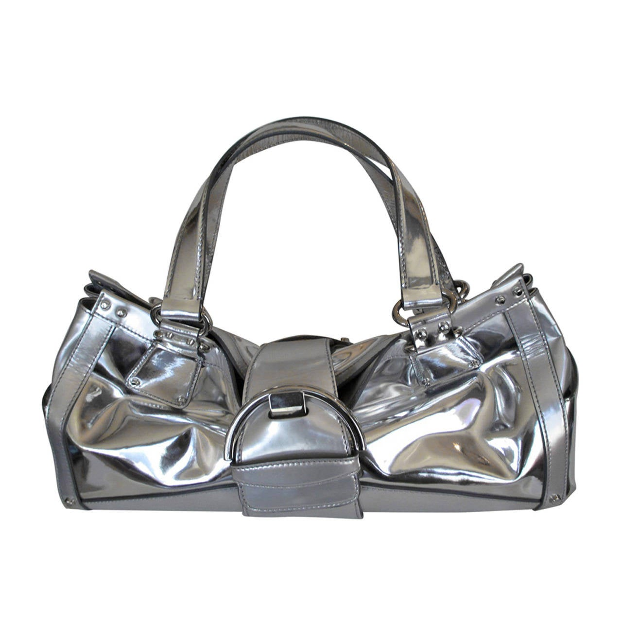Sergio Rossi silver Leather handbag