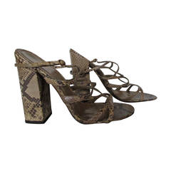 Yves saint Laurent python print leather shoes
