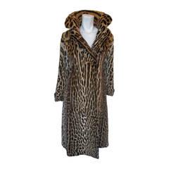 vintage Leopard fur print coat, 1940s