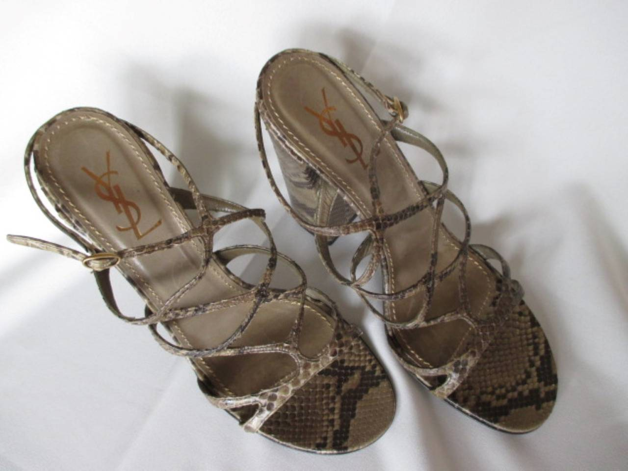 Almost new YSL summer shoes worn a few times and in good condition made from leather snake.