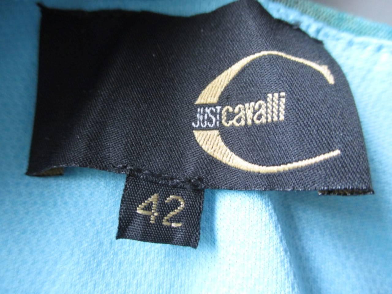 """Just Cavalli"" Turquoise Summer dress 2"
