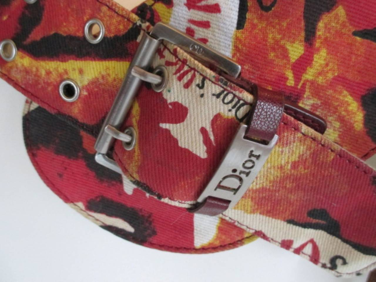 """Christian Dior Limited Edition Victim belt, colour: multicolour, material 