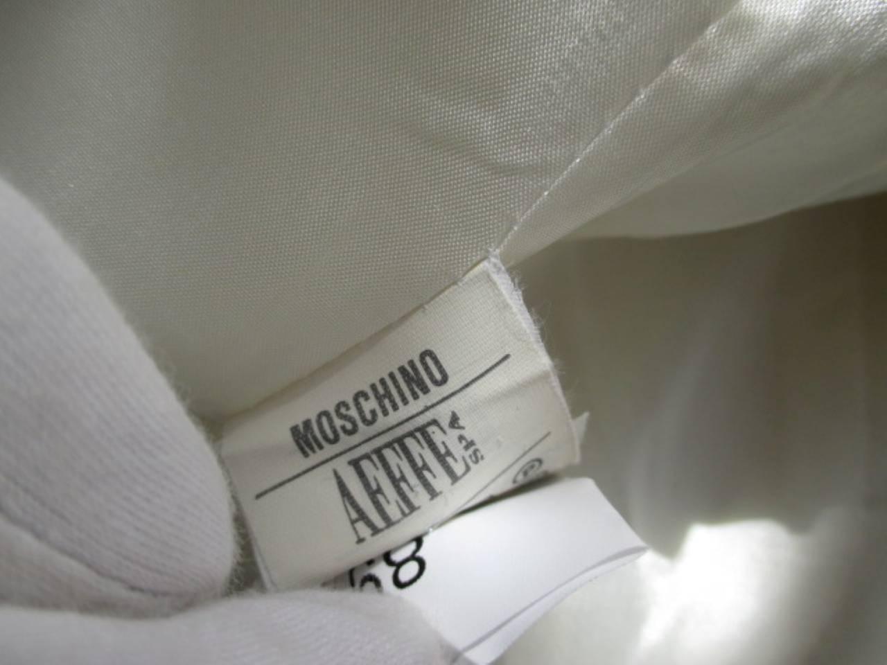 "vintage Moschino ""Cheap & Chic""white blazer with black trim 6"