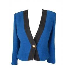 Givenchy vintage royal blue and grey jacket