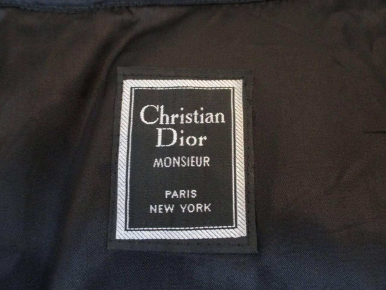 Christian Dior black men's topcoat 2