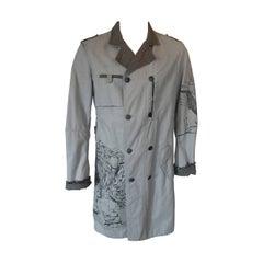 Marithe Francois Girbaud grey green men's coat