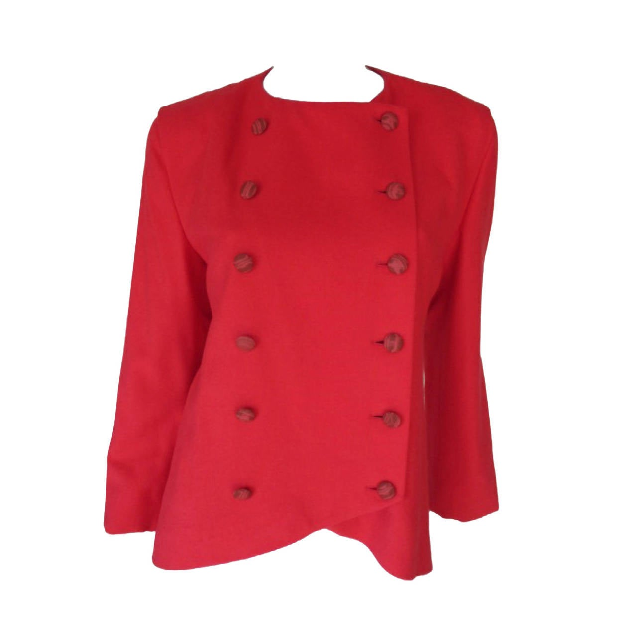 80's Pierre Cardin soft red wool jacket