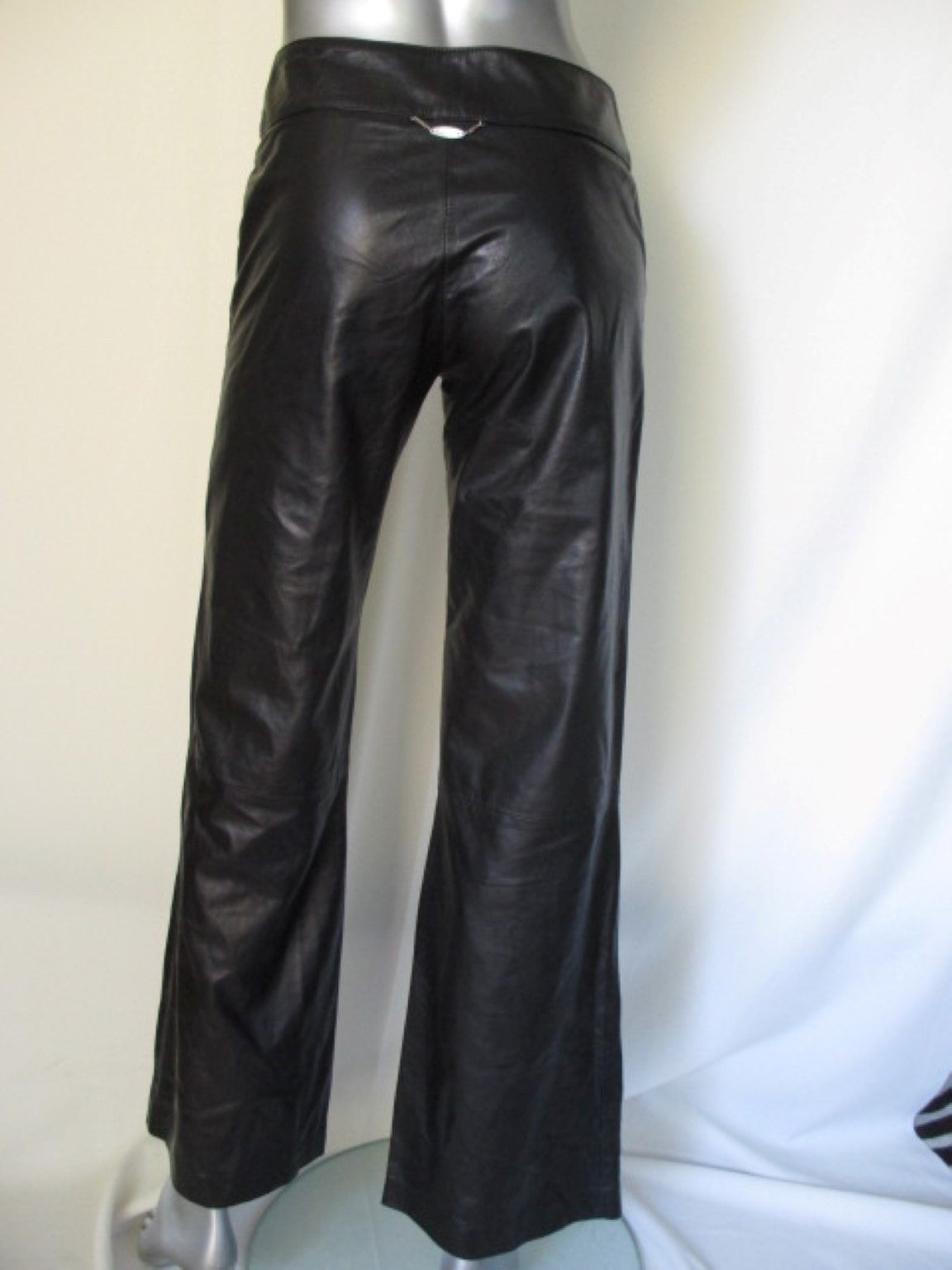 "Gianni Versace ""Classic"" black soft leather trousers 4"