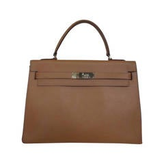Classic Hermes Sellier Kelly 32 epsom leather bag