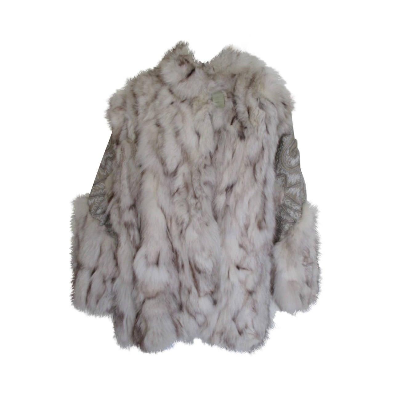 e4a8ea56 Arianna Firenze Apres-ski Fox fur jacket with embroidered leather