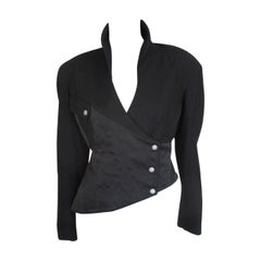 "80's Thierry Mugler ""Active"" black Asymmetrical jacket"