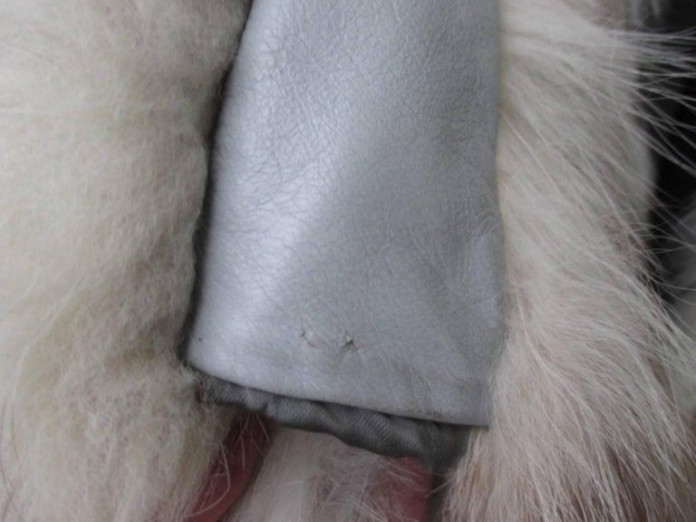 Trendy full length arctic fox fur coat 8