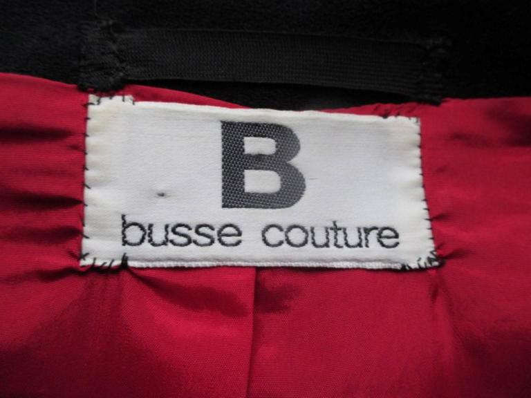 """Couture """"Busse"""" black embroidered beaded Bolero  In Good Condition For Sale In Amsterdam, NL"""