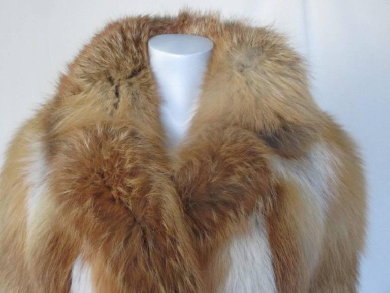 Red fox fur jacket 2