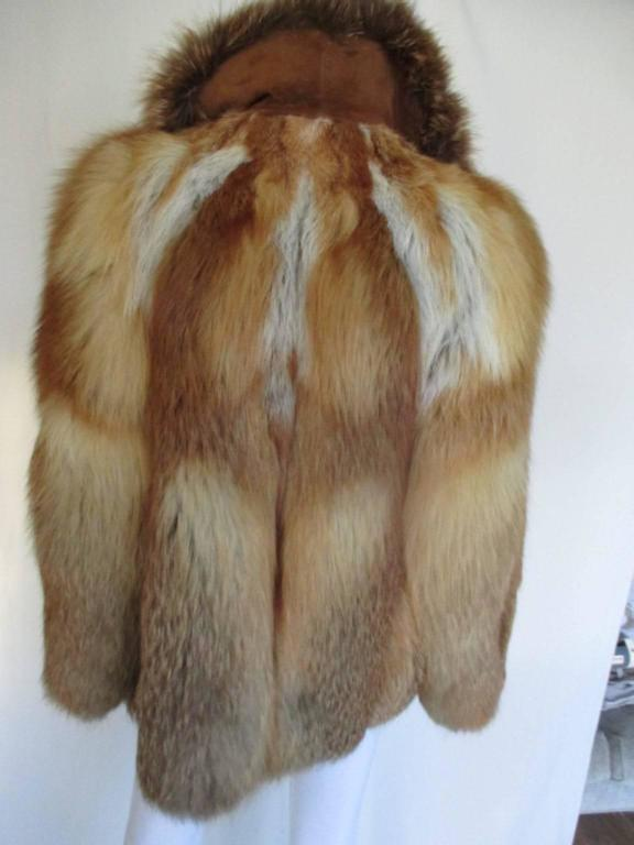 Red fox fur jacket 3