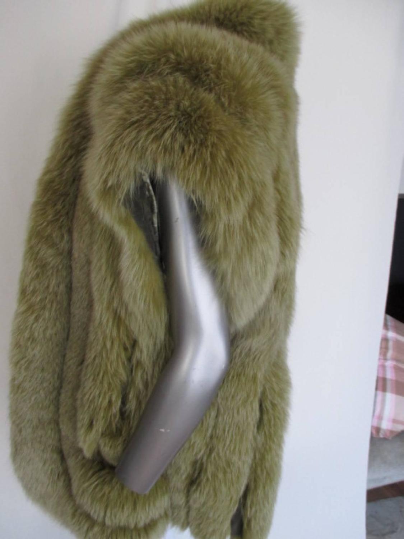 Sleeveless Lime Green Fox Fur Body Warmer At 1stdibs