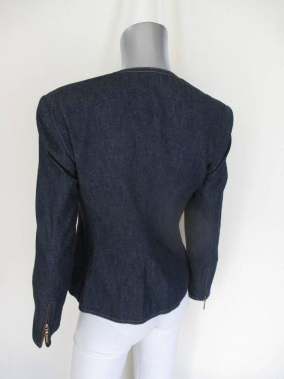 escada embroided jeans jacket In Excellent Condition For Sale In Amsterdam, NL
