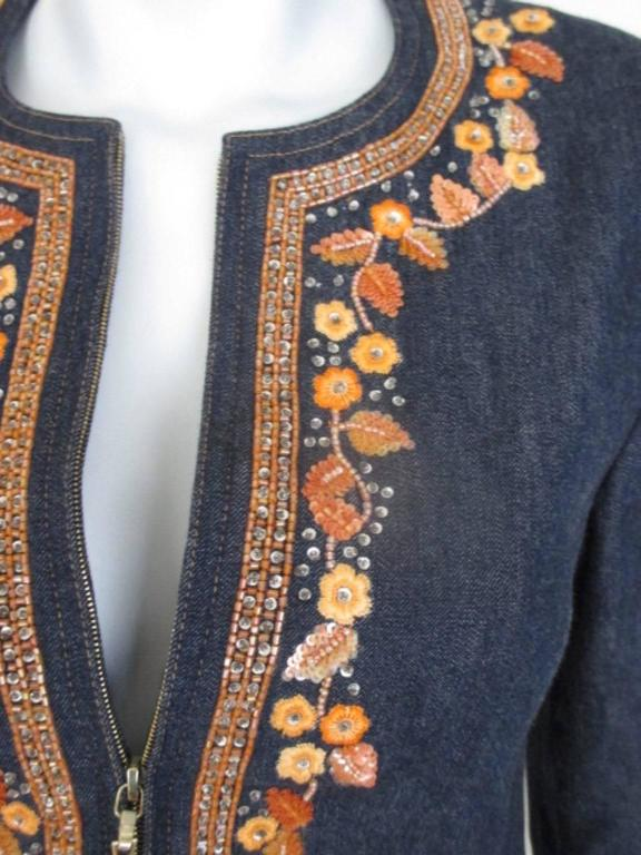 escada embroided jeans jacket 6