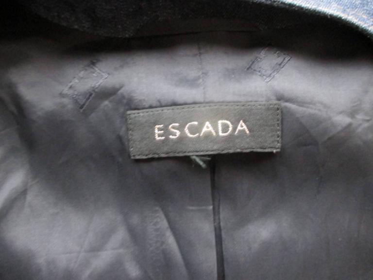 Black escada embroided jeans jacket For Sale