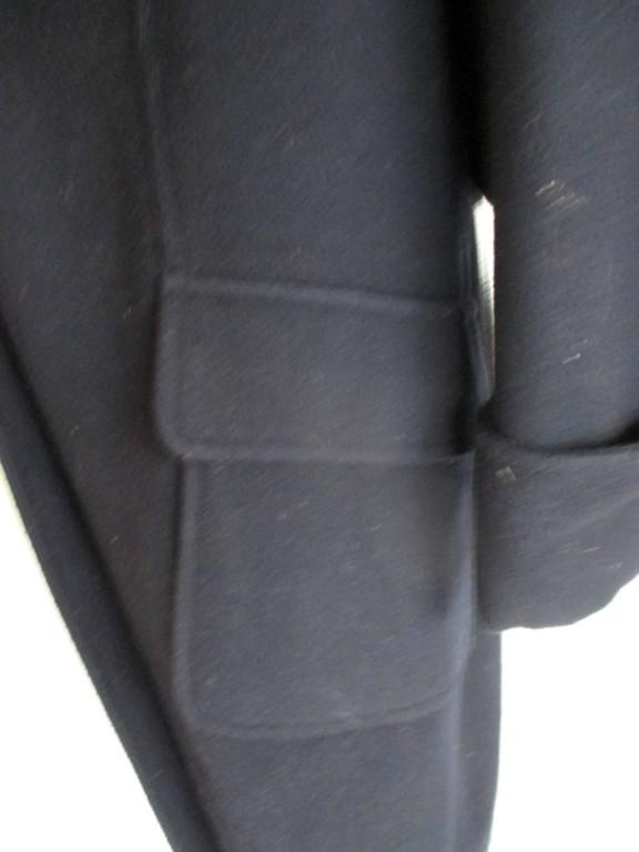Chanel blue wool coat with signature coco buttons 1