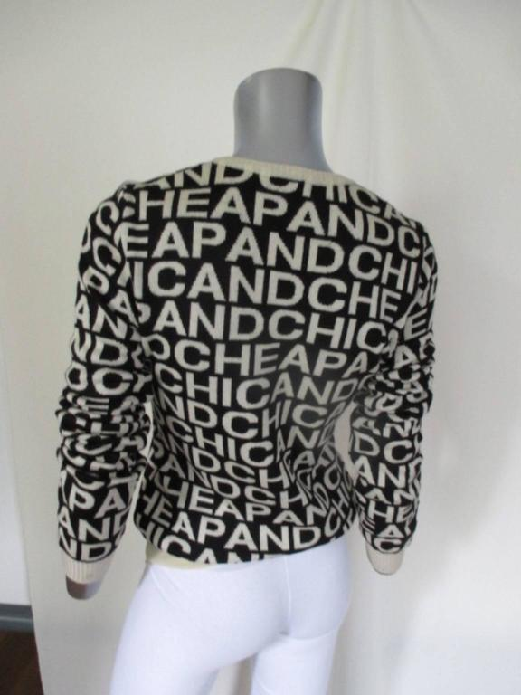 moschino cheap and chic wool sweater 4