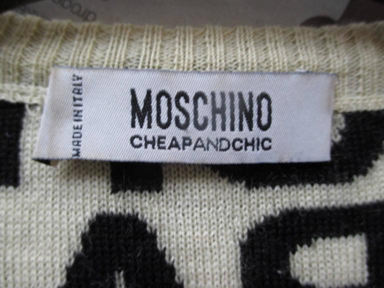 moschino cheap and chic wool sweater 2