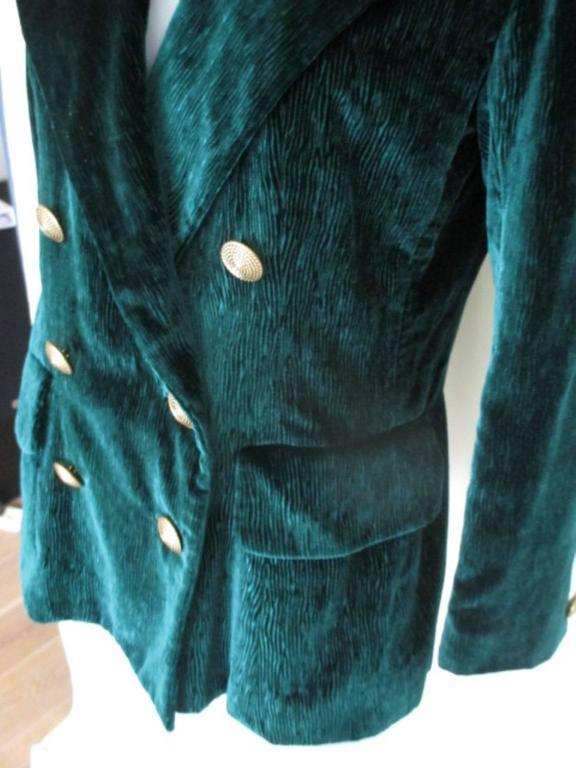 velvet green yves saint laurent blazer 4
