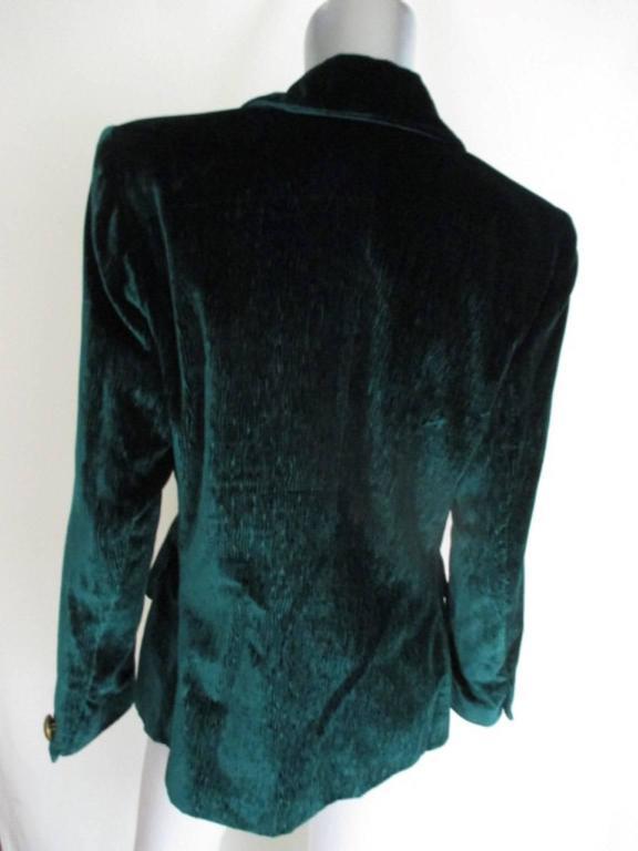 velvet green yves saint laurent blazer 5