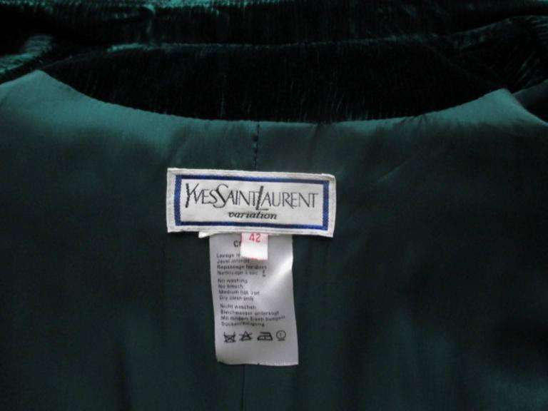 velvet green yves saint laurent blazer 2
