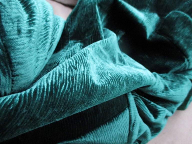 velvet green yves saint laurent blazer 3