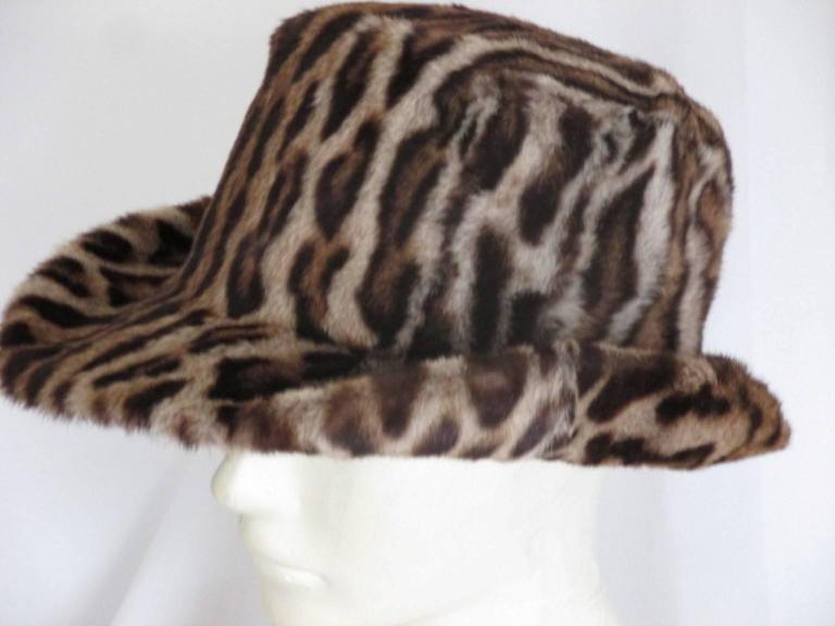 40's chic leopard fur print hat 2