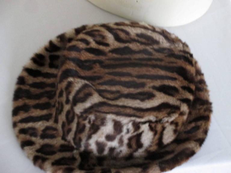40's chic leopard fur print hat 5