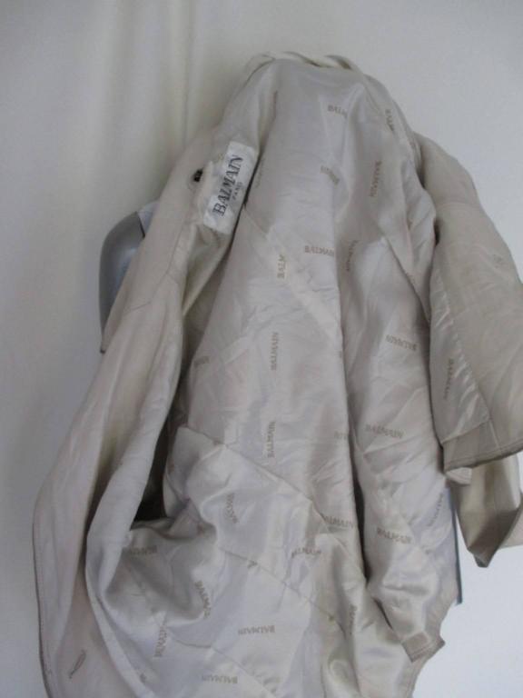Balmain Paris soft leather jacket For Sale 2